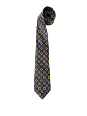 Gucci: ties & bow ties - Bee and star squares silk tie