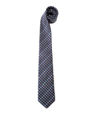 Gucci: ties & bow ties - Contrasting double G silk tie