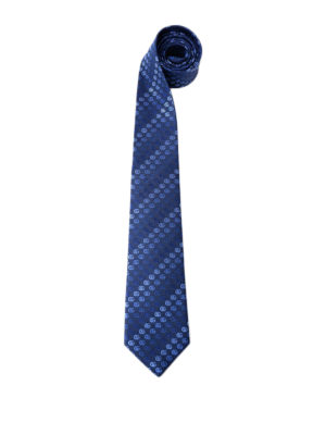 Gucci: ties & bow ties - Light blue double G silk tie