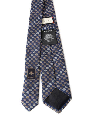 Gucci: ties & bow ties online - Contrasting double G silk tie