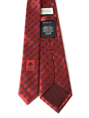 Gucci: ties & bow ties online - Star and bee pattern silk tie