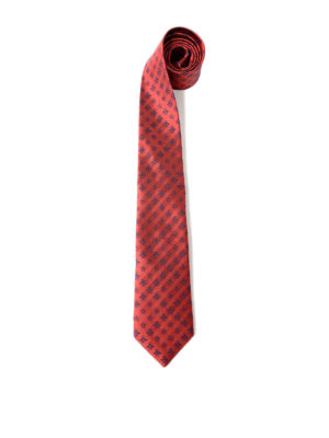 Gucci: ties & bow ties - Star and bee pattern silk tie