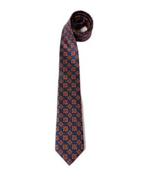 Gucci: ties & bow ties - Star and bee square silk tie