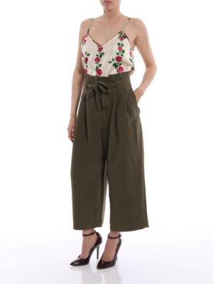 Gucci: Tops & Tank tops online - Rose print silk twill tank top