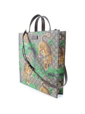 Gucci: totes bags online - Gucci Bengal print GG canvas tote