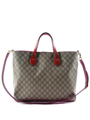 Gucci: totes bags - Original GG and leather soft tote
