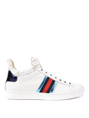 Gucci: trainers - Ace lace detailed sneakers