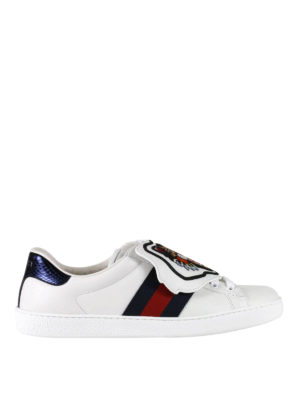Gucci: trainers - Ace removable patch sneakers