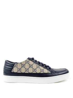 Gucci: trainers - GG Supreme and leather sneakers
