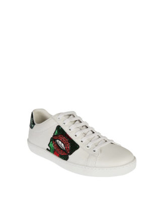 Gucci: trainers online - Ace embellished sneakers