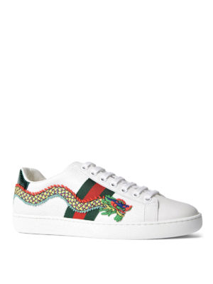 Gucci: trainers online - Ace embroidered low top sneakers