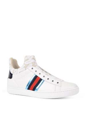 Gucci: trainers online - Ace lace detailed sneakers