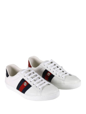 Gucci: trainers online - Ace removable patch sneakers