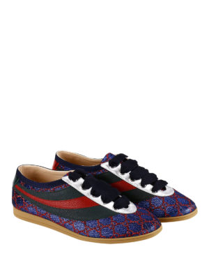 Gucci: trainers online - Falacer lurex and leather sneakers