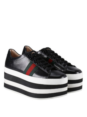 Gucci: trainers online - Striped maxi platform sneakers