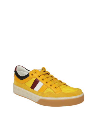 Gucci: trainers online - Yellow multi fabric sneakers