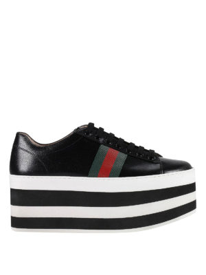 Gucci: trainers - Striped maxi platform sneakers