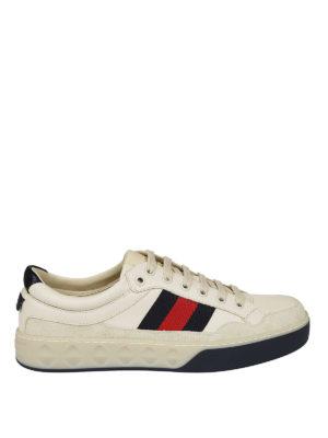 Gucci: trainers - White multi fabric sneakers