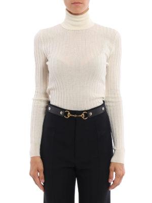 Gucci: Turtlenecks & Polo necks online - Wool and silk slim turtleneck