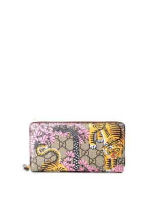 Gucci: wallets & purses - Bengal print GG canvas wallet