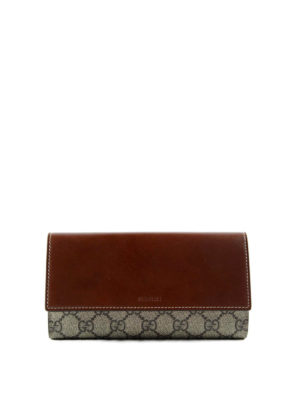 Gucci: wallets & purses - GG Supreme and leather wallet