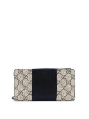Gucci: wallets & purses - GG Supreme zip around wallet
