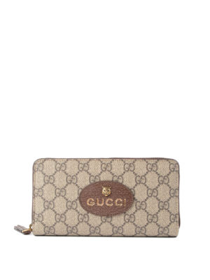 Gucci: wallets & purses - GG Supreme zip-around wallet