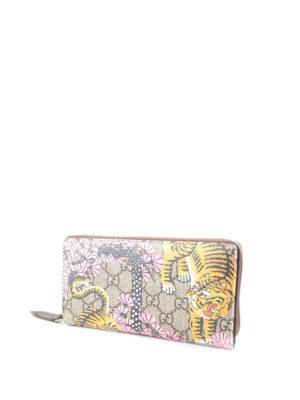 Gucci: wallets & purses online - Bengal print GG canvas wallet