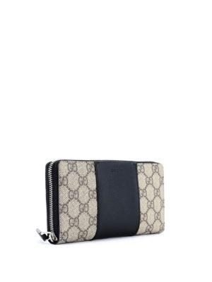 Gucci: wallets & purses online - GG Supreme zip around wallet