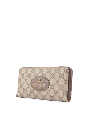 Gucci: wallets & purses online - GG Supreme zip-around wallet