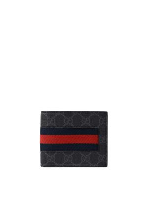 Gucci: wallets & purses - Sylvie Web GG Supreme card holder