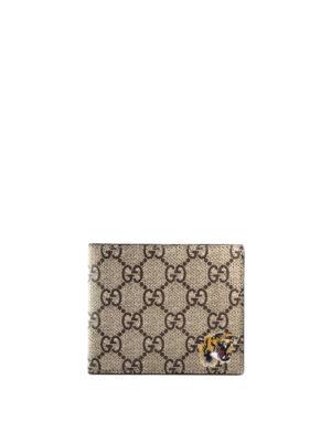 Gucci: wallets & purses - Tiger print GG Supreme wallet