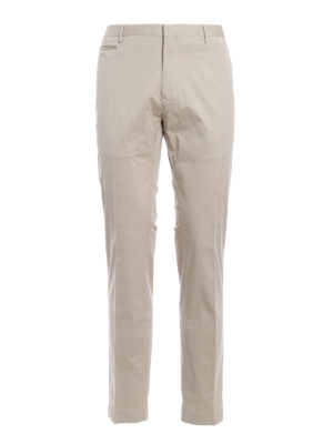 Hackett: casual trousers - Cotton twill chino trousers