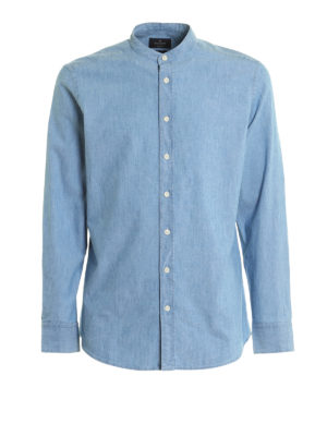 Hackett: shirts - Cotton denim shirt