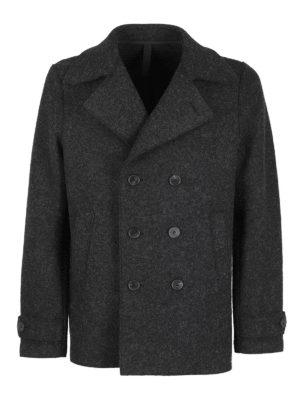 HARRIS WHARF LONDON: short coats - Wool blend peacoat