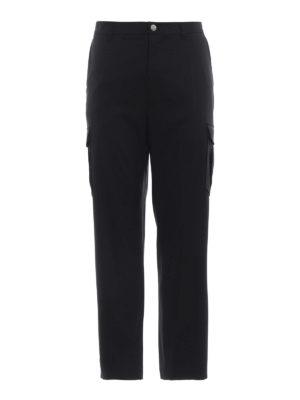 HELMUT LANG: pantaloni casual - Pantaloni cargo sartoriali in jersey di lana