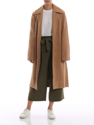 HELMUT LANG: cappotti lunghi online - Cappotto lungo Nappy color cammello