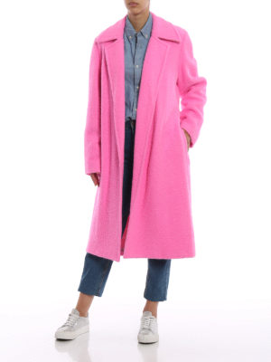 HELMUT LANG: cappotti lunghi online - Cappotto lungo Nappy color rosa forte