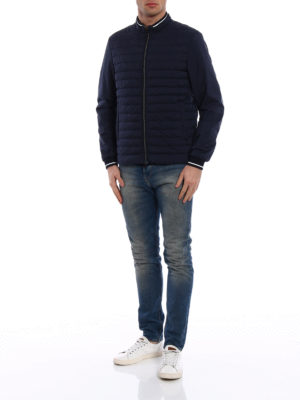 Herno: bombers online - Rib knitted edge bomber jacket