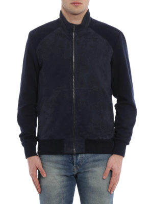Herno: bombers online - Suede and knitted cotton bomber