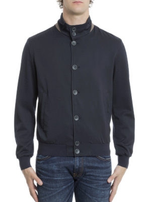 Herno: bombers online - Wool blend bomber jacket