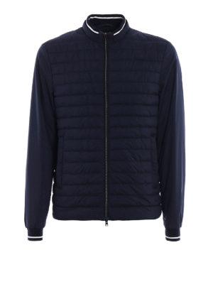 Herno: bombers - Rib knitted edge bomber jacket