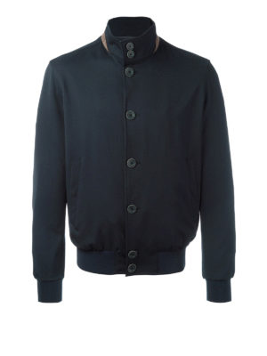 Herno: bombers - Wool blend bomber jacket