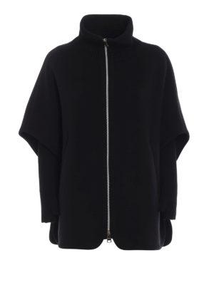 HERNO: Mantelle e poncho - Cappa in panno di lana misto cashmere nera