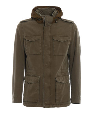 Herno: casual jackets - Bogart techno cotton field jacket