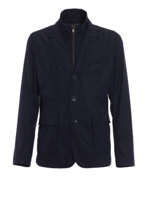 Herno: casual jackets - Double front blue blazer jacket
