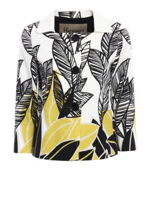 Herno: casual jackets - Leaf print cotton jacket