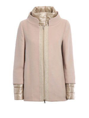 Herno: casual jackets - Light pink wool double front jacket