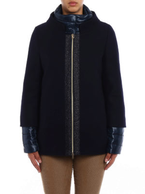 Herno: casual jackets online - Blue wool double front jacket