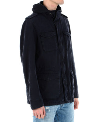 Herno: casual jackets online - Bogart techno cotton blue jacket